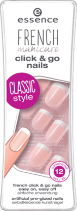 Picture of Ongles Artificiels french click 'n go nails,  12 Pièces