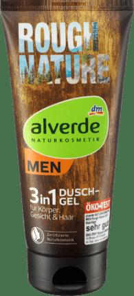 Alverde Gel Douche Rough Nature 3en1, 200 ml