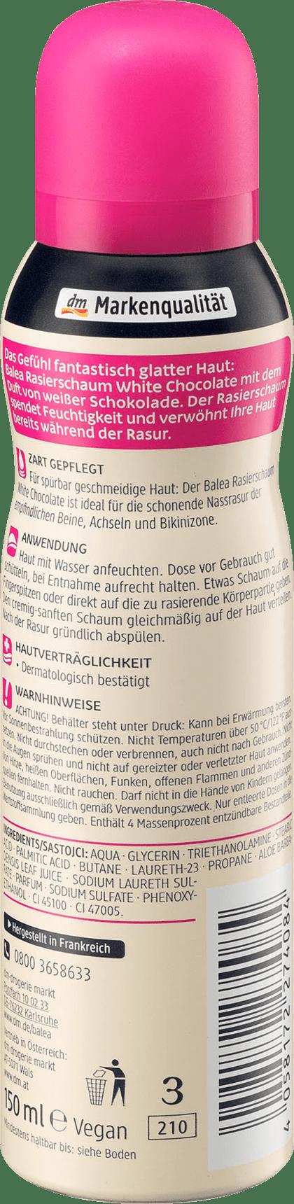 Crème de Rasage Mousse à Raser Chocolat Blanc, 150 ml