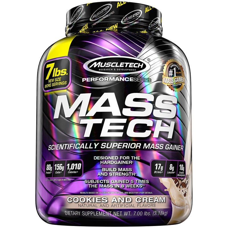Muscle Tech - MassTech Cookies and Cream 3,18 Kg