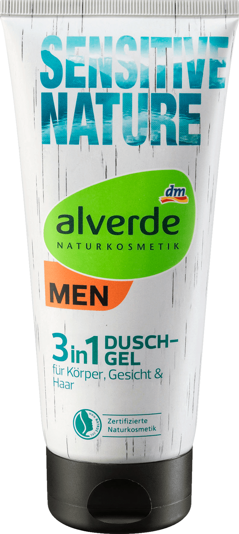Alverde Gel Douche Sensitive Nature 3 en 1, 200 ml