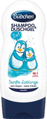 Bübchen Shampooing & Gel Douche pour Enfants Doux Chéris, 230 ml