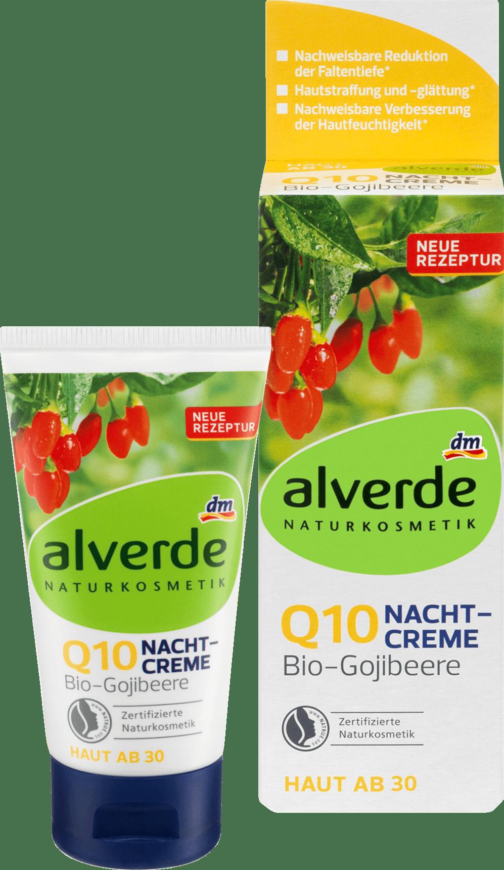 Alverde Crème de Nuit aux baies de goji Bio Q10