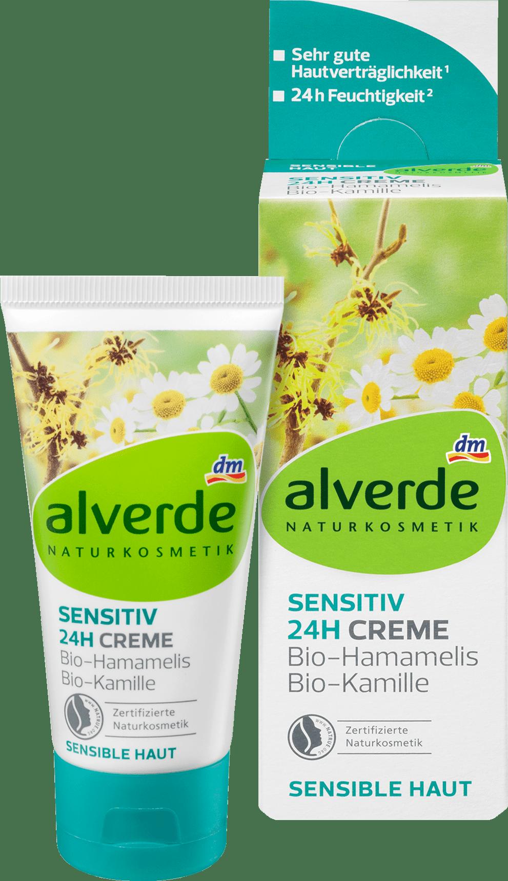 Alverde Crème de jour Sensitive 24h Hamamelis Camomille
