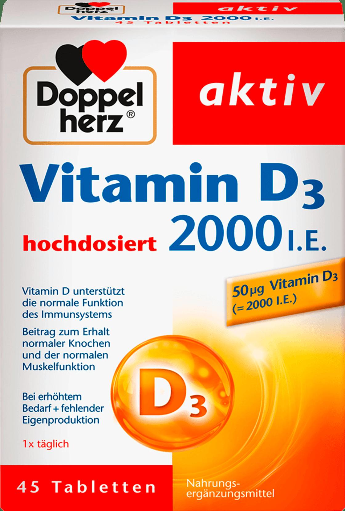 Comprimés de Vitamine D - Soutenu le Fonctionnement Normal du Système Immunitaire