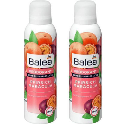 Picture of Balea Pack 2 Déodorant Pfirisch Marcuja - Deodorant Spray 2 x 200 ml