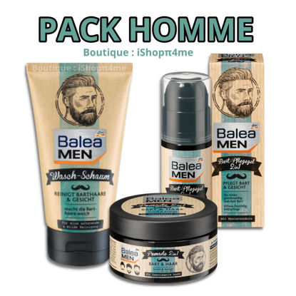 Picture of PACK Balea Men Barbe et Cheveux & Huile Rasage & Mousse Lavante de Barbe